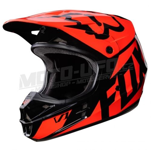 FOX přilba V1 RACE Helmet Orange 17