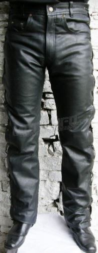 KO kalhoty kožené šněrováky