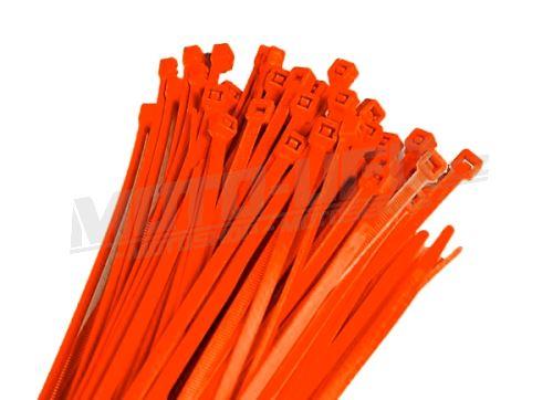 RTECH stahovací pásky 100kusů 3,6x200mm neon oranžové