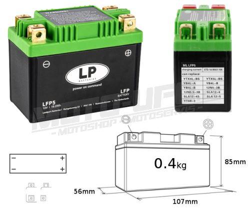 LP baterie lithiová LFP5 12V/4-5Ah (KTM, HUSGVARNA)