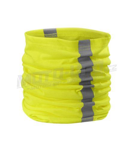 KO šátek tubus reflexní žlutá