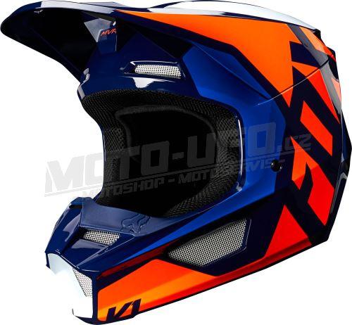 FOX přilba V1 Lovl Helmet Orange Blue