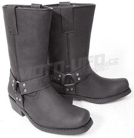 JOHNY BULLS - boty ,,kůň,, vysoké - černá matná