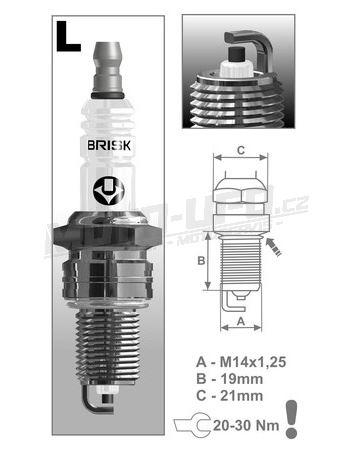 Zapalovací svíčka L15YC řada Super, BRISK - Česká Republika