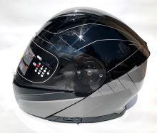 YOHE přilba 950-16 Black, Grey vel: XL