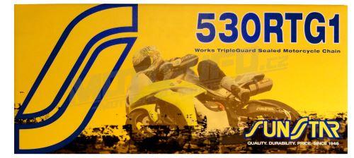 Řetěz 530RTG1 SUNSTAR - Japonsko (barva zlatá, 120 článků)