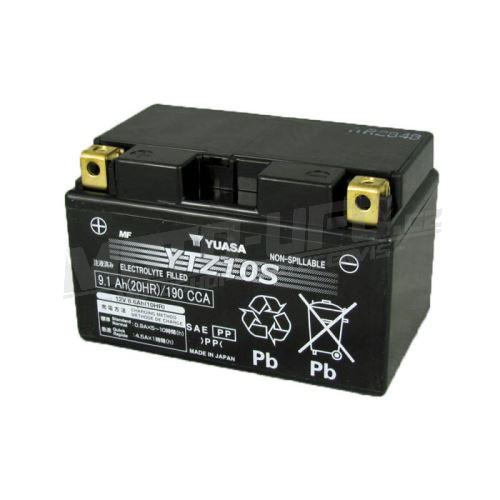 YUASA baterie YTZ10S (12V 8.6Ah) aktivovaná ve výrobě