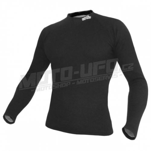 BLUEFLY – TERMO DUO - tričko dlouhý rukáv – černé unisex