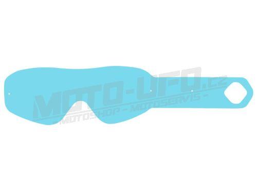 Strhávací slídy plexi pro brýle FM RACING MUDDY TRACK, QTECH - EU (10 vrstev v balení, čiré)