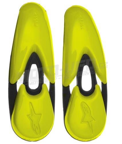 Slidery špičky pro boty SMX-R/SMX-1/2/4/5/WP/STELLA/SUPERTECH R, ALPINESTARS - Itálie (žlutá fluo, pár)