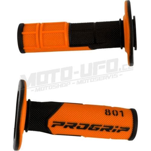 PROGRIP gripy 801 černo/oranžové – pár