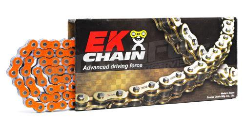 EK řetěz 520 MRD7 Oranžová/Stříbrná NOVÁ GENERACE 120čl. netěsněný/ bezkroužkový