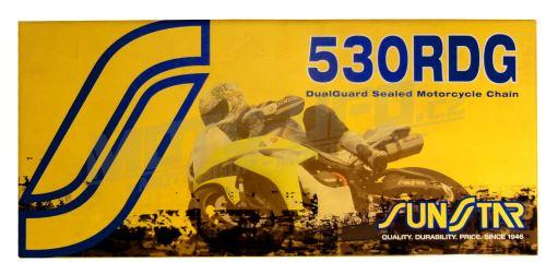 Řetěz 530RDG, SUNSTAR - Japonsko (barva černá, 122 článků)