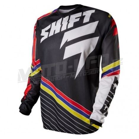SHIFT dres STRIKE stripes black