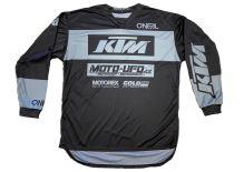 MU dres KTM, MU team šedý vel: L