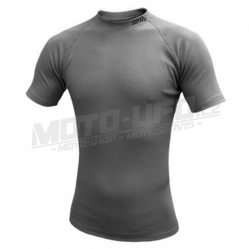 BLUEFLY – TERMO DUO - tričko krátký rukáv – tmavě šedá unisex
