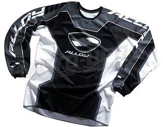 ALLOY dres MX jersey black vel: 2XL