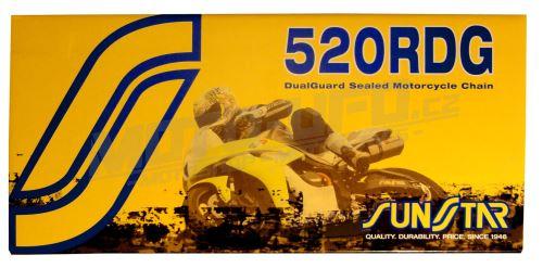 Řetěz 520RDG, SUNSTAR - Japonsko (barva černá, 118 článků)