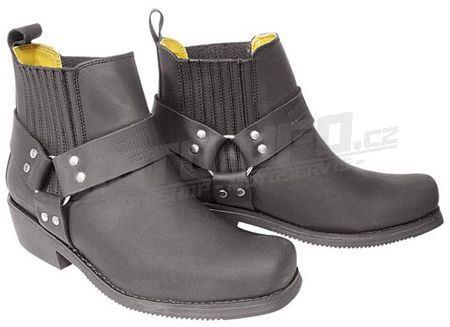 JOHNY BULLS - boty ,,kůň,, nízké - černá matná