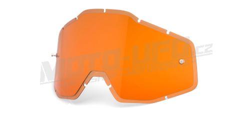 Plexi Injected Racecraft/Accuri/Strata, 100% - USA (oranžové, Anti-fog)