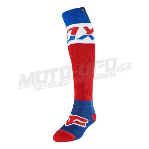 FOX podkolenky Fri Thick Sock - Afterburn Blue, Red