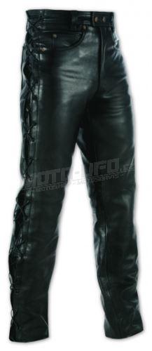 A-PRO kalhoty kožené 5TASCHE LACCI se šněrováním