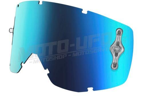 Plexi HUSTLE/TYRANT/SPLIT MX SGL WORKS, SCOTT - USA (modrý chrom, antifog)