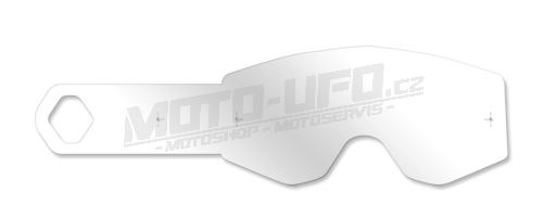 Strhávací slídy plexi pro brýle FLY RACING, FLY RACING - USA dětské (10 vrstev v balení, čiré)
