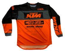 MU dres dětský KTM, MU team oranžový vel: L
