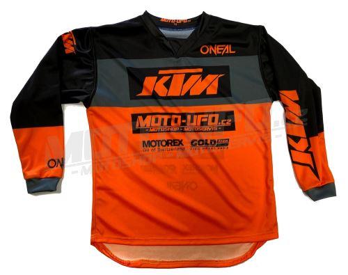 MU dres dětský KTM, MU team oranžový