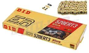 DID řetěz 520 ERT3 zlatý 118čl