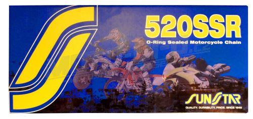 Řetěz 520SSR, SUNSTAR - Japonsko (barva černá, 114 článků)