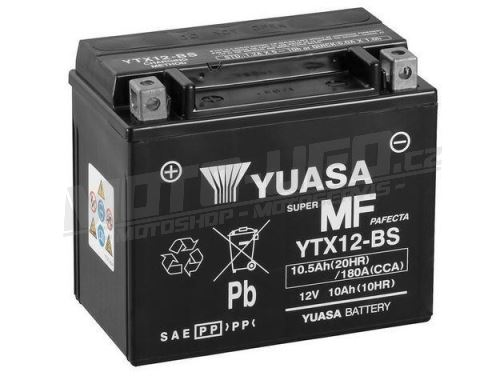 YUASA baterie YTX12-BS (12V 10,5Ah)