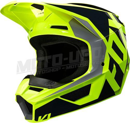 FOX přilba V1 Lovl Helmet Black Yellow