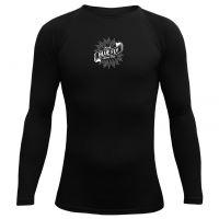 BLUEFLY – MERINO VLNA - tričko dlouhý rukáv - černé unisex vel: M