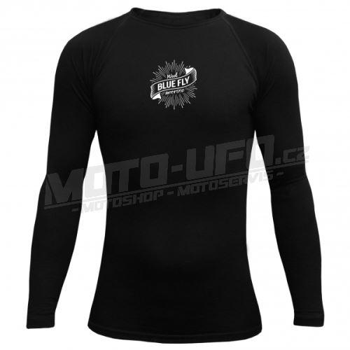 BLUEFLY – MERINO VLNA - tričko dlouhý rukáv - černé unisex