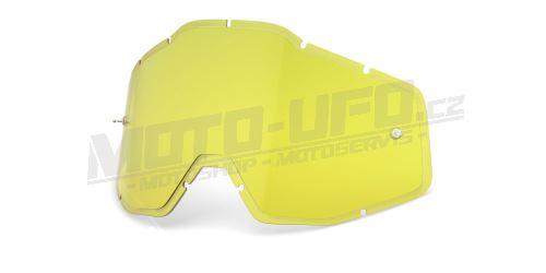 Plexi Injected Racecraft/Accuri/Strata, 100% - USA (žluté, Anti-fog)