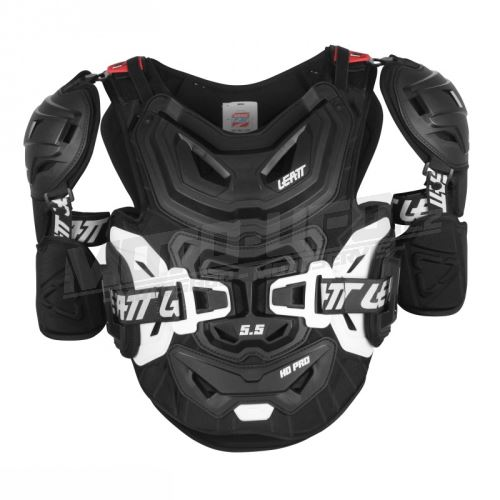 LEATT chránič hrudi s bokama 5.5 Pro HD Chest Protector Black