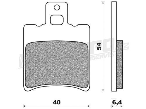 Brzdové destičky (směs SCOOTER ELITE ORGANIC) NEWFREN - Itálie (2 ks v balení)