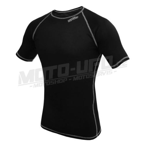 BLUEFLY - TERMO LIGHT - tričko krátký rukáv - černé unisex