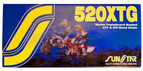 Řetěz 520XTG, SUNSTAR - Japonsko (barva zlatá, 118 článků)