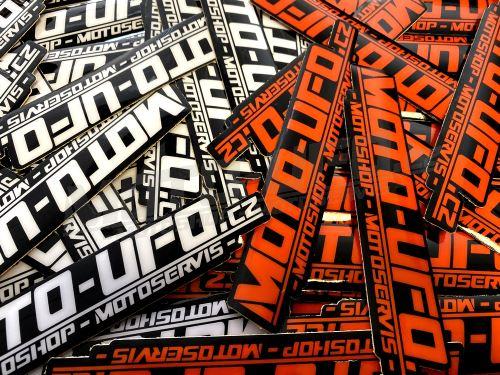 MOTO-UFO samolepka logo TLUSTÁ MX FOLIE 100x20mm - 1kus