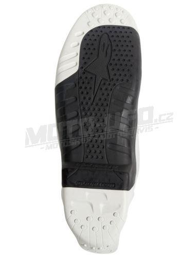 Podrážky pro boty TECH 10 model 2014 až 2018, ALPINESTARS (černé/bílé, pár)
