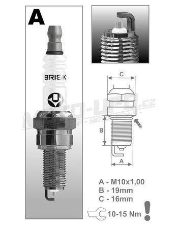 Zapalovací svíčka AR12YS řada Silver, BRISK - Česká Republika