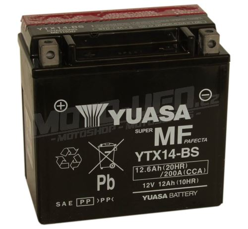 YUASA baterie YTX14-BS (12V 12,6Ah)
