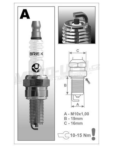 Zapalovací svíčka AR10C řada Super, BRISK - Česká Republika