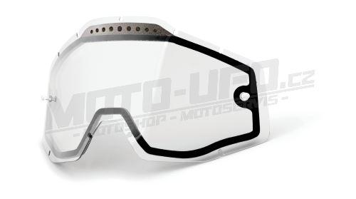 Plexi Dual Racecraft/Accuri/Strata, 100% - USA (čiré Vented, Anti-fog)
