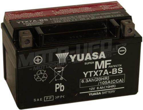 YUASA baterie YTX7A-BS (12V 6,3Ah)