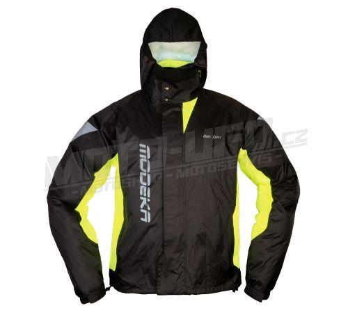 MODEKA bunda do deště AX DRY II černá, žlutá