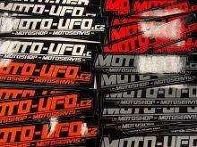 Samolepka logo MOTO-UFO 150x30mm - šedá